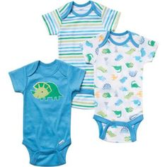 Gerber Onesies Brand Baby Boy Bodysuits Variety 3 Pack - Walmart.com