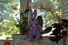 Купить зайка Тижинка - фиолетовый, тижинка, тедди зайка, игрушка ручной работы