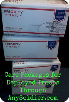 Care packages for deployed troops thanks to AnySoldier.cm, get addresses for soldiers overseas to send necessities to our men & women in uniform