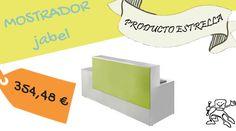 Mostrador de recepción modelo Jabel de 200cm. Elige color y medida.