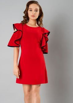 dbfa591aef3206 Find out the best Ruffle Cascade Dress  FabAlley  Fashion  PartyWear   Dresses