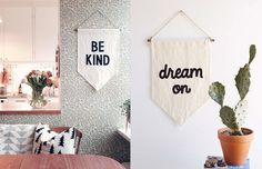 Uma flâmula que conversa com você :-) E uma ideia para decorar sua parede!