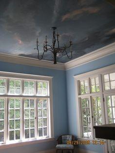 French Blue Tea/Sunroom