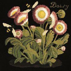 Daisy needlepoint kit from Elizabeth Bradley
