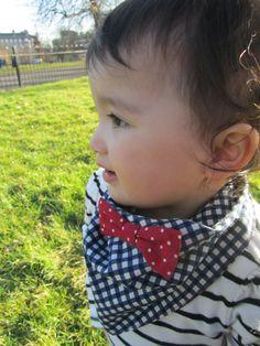 Baby bandana with bow by KOCOKIDS on Etsy, $12.00