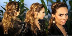 """Красивая модная прическа на 1 сентября с """"колоском"""" вокруг головы и низким конским хвостом ::: onelady.ru ::: #hair #hairs #hairstyle #hairstyles"""