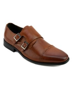 Another great find on #zulily! Tan Kimbel Leather Double Monk-Strap Shoe #zulilyfinds