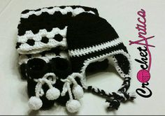 Black and white newborn set, crochet, gifts, gender neutral, gender unknown, hat, booties, blanket, free shipping - pinned by pin4etsy.com