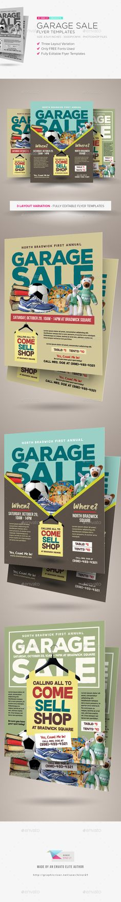 Garage Sale Flyer Templates  -  PSD Template • Only available here! →…