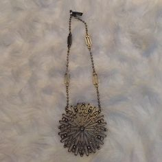 Banana Republic Necklace Statement necklace with large geometric circle. Never worn. Banana Republic Jewelry Necklaces