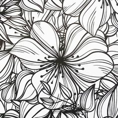 Fabulous Flowers colouring book for grown-ups