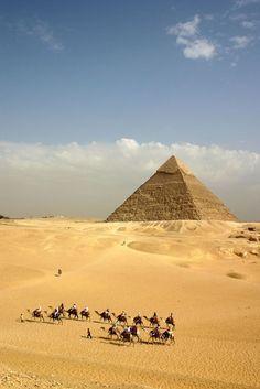 Pyramids at Giza, Egypt.