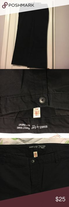 Gap Perfect Fit Khakis --Black. Size 16 Regular. GREAT condition. Worn once. Super comfortable black khakis. Wide leg. Size 16 Regular. GAP Pants Wide Leg