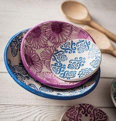Plates, Tableware, Fabric, Handmade, Google, Fimo, Homemade, Handarbeit, Simple