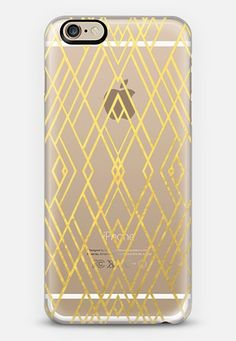Art Deco Gold Transparent iPhone 6s case by Project M | Casetify