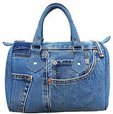 Amazon.com: Bijoux De Ja BDJ Classic Blue Denim Jean Doctor Style Women Handbag (LL-04): Home & Kitchen