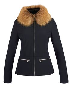 Poivre Blanc 2015 / 16 Ski Collectionblack ski jacket fur collar