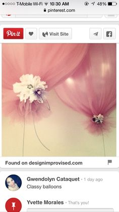 Decorated balloons