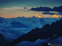 Yangra Himal as seen from #Manaslu base camp (4930m) in Nepal. Capturing the last light before sunset while the valley is consumed by clouds. I spent three weeks up there and it never got boring due to views as this one. by Nils Peuse.  #trekking #himalaya #nepal #vaude #outdoor #sunset #priceless #picoftheday #photooftheday #adventure #nature #naturelovers #mountains #summit by vaudesport