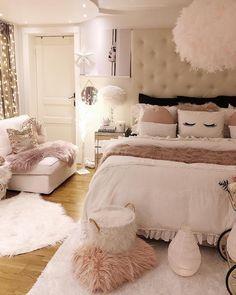 Room Makeover, Bedroom Makeover, Bedroom Themes, Girl Bedroom Designs, Luxurious Bedrooms, Fancy Bedroom, Room Decor Bedroom, Bedroom Decor, Aesthetic Bedroom