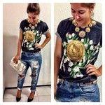 Tshirt Vanguarda Store com vibe Dolce&Gabbana - vanguarda@estilovanguarda.com.br