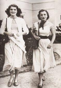 Jacqueline and Caroline Bouvier