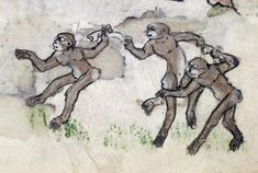 Apes Dancing to Ring-around-a-Rosy: The song Ring-around-a-Rosy is still popular today, often danced in a circle just as we see the monkeys doing here. Yet this seemingly lighthearted song has a dark past. The plague swept Europe during the 14th century, and the songs words actually refer to its terrible symptoms: a circular rose-colored rash, sneezing or coughing, and finally, death. ... The Walters.
