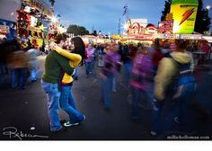 The fair for engagement pictures, that's cute