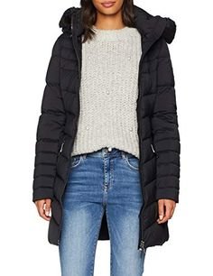 Tommy Hilfiger Women's April Str Down Coat (Black Beauty Small - United Kingdom Shopping Website Tommy Hilfiger Damen, Down Coat, Outerwear Women, Mode Outfits, Cute Woman, Trends, Coats For Women, Winter Jackets, Clothes