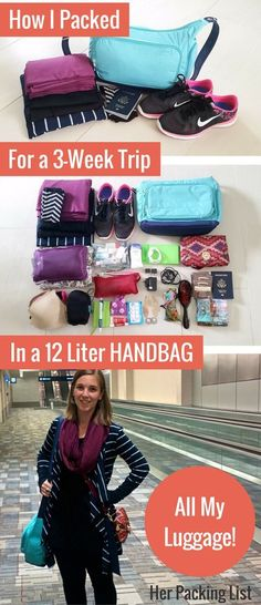 My minimalist packing list that was sufficient for 3 full weeks of travel! Packing ultralight.