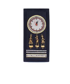 Warli and Dhokra Work Clock | I found an amazing deal at fashionandyou.com and I bet you'll love it too. Check it out!