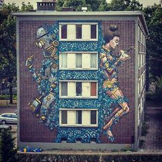 Pixel Pancho New Street Art For Day One Festival - Antwerp, Belgium