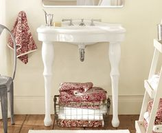 I Really Like The Look Of This Parisian Pedestal Single Sink Console From  Pottery Barn,