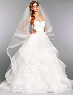 A-line Taffeta Organza Wedding Dress - Uniqistic.com