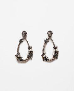 Image 1 of TEARDROP GEM EARRINGS from Zara