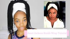 Hey guys, I received a lot of requests on how to do this head wrap thing with my twists. I got my inspo from Janet Jackson in poetic Justice and I was just e. Janet Jackson Poetic Justice, Curled Box Braids, Poetic Justice Braids, Rihanna Fenty, 2020 Fashion Trends, Braid Styles, Head Wraps, Natural Makeup, Different Styles