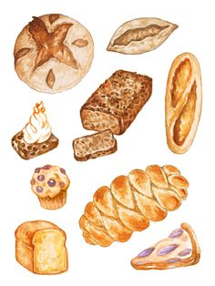 XAMPP is an easy to install Apache distribution containing MariaDB, PHP and Perl. Food Stickers, Printable Stickers, Planner Stickers, Brownies, Pain Au Levain, Meal Planner Printable, Printables, Bread Art, Watercolor Food