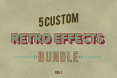 Now you can create a retro effects to your text, shapes, and logo in seconds :)
