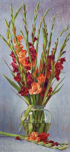 Watercolor Painting of Gladiola | Reigning Gladiolus Painting