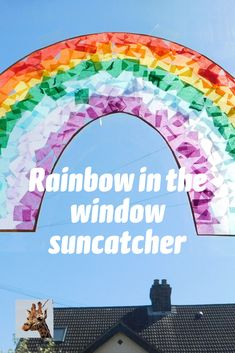 Rainbow in the window Split Lighting, Rainbow Activities, Plastic Film, Preschool Science, Library Displays, Suncatchers, Tissue Paper, My Children, Rainbows