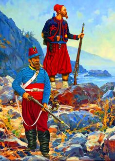 French Zouave and African Chasseur in Crimea