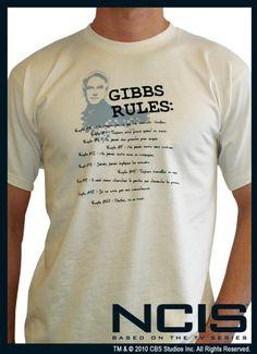 T-Shirt NCIS représentant Gibbs Rules ainsi que les règles énoncées au fil des épisodes. #logostore #NCIS