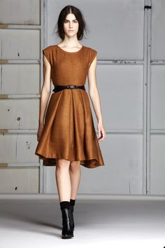 Gary Graham | belted dress + ankle boots