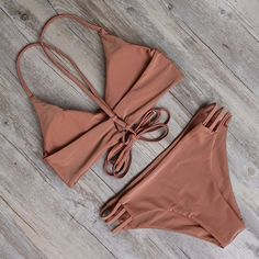 Cinnamon Chic Bikini with; - Runs slightly small, order one size up - Bikini featuring a trendy design in a beautiful color - Soft cups for shape and structure - Best suited to an A-C cup size - Made from Spandex, Polyester Sexy Bikini, The Bikini, Push Up Bikini, Strap Bikini, Bikini Underwear, Lingerie, Sexy Girl, Beachwear, Bathing Suits