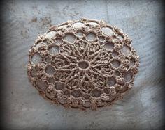 Crocheted Lace Stones Jewelry Unique Handmade Gifts por Monicaj