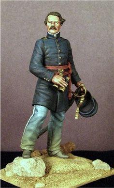 Captain Robert E. Lee, 1847 Mexico, increible el general Lee, heroe del sur en la guerra de secesión de 1961 en EEUU, obviamente esta foto es de su campaña en Mexico en los años 40 del SXVIII