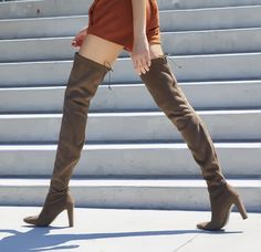 57f7d11f4b3 Sexy strides from Stuart Weitzman The ALLLEGS boots  ss16  style Thigh High  Boots Outfit