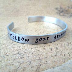 Inspirational Graduation Bracelet  Follow your by SmittenbyKristin, $16.50