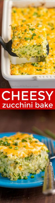 A golden cheesy crust seals in the fluffy, moist and creamy center of this zucchini casserole. An easy and irresistibly delicious zucchini casserole recipe   natashaskitchen.com