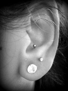This is a perfect example of an anti Tragus piercing